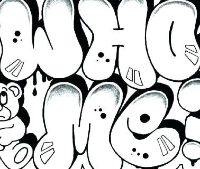 Graffiti Coloring Pages For Teenagers At Getdrawings Free Download