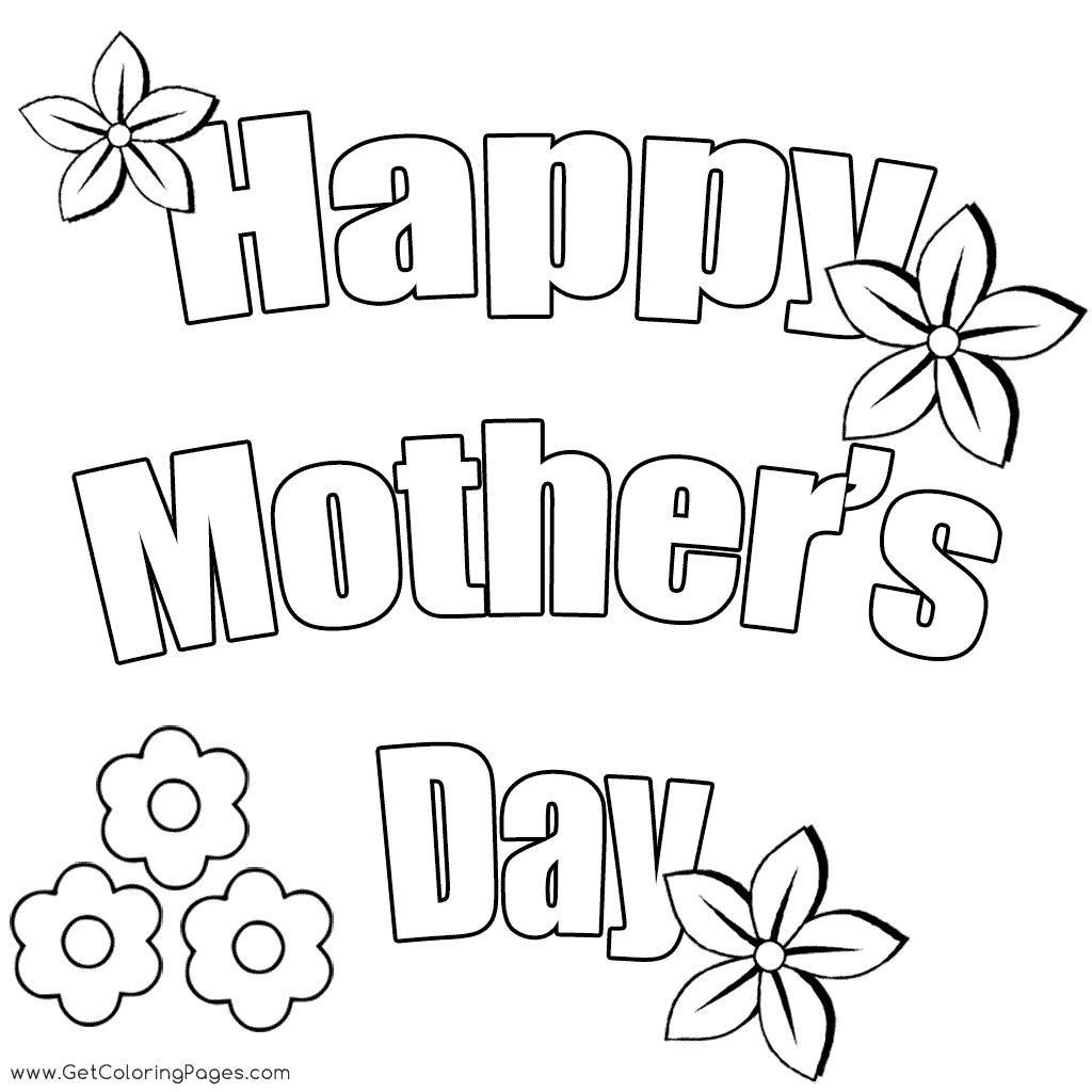 Happy Mothers Day Coloring Pages At Getdrawings