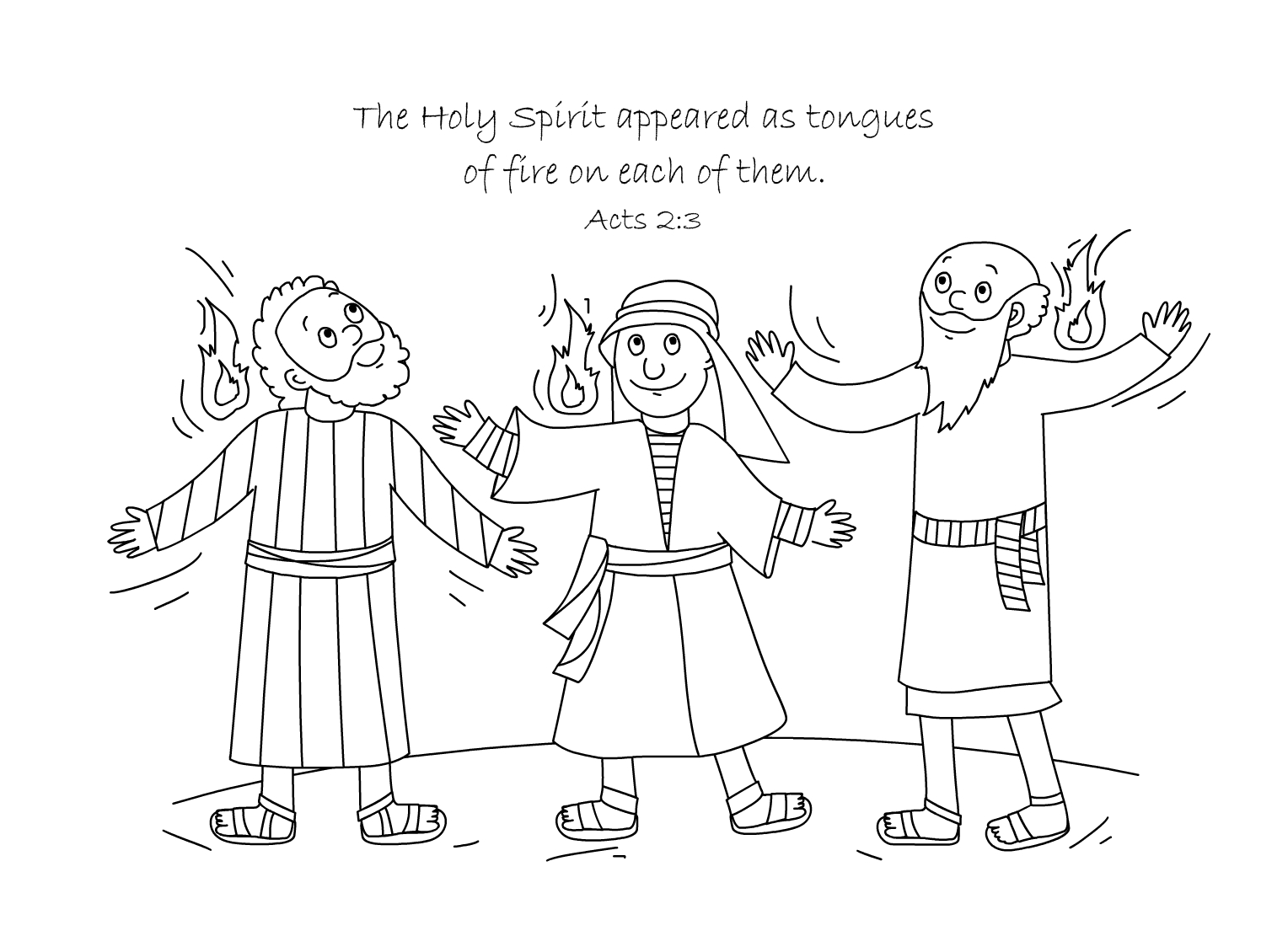 Holy Spirit Coloring Page At Getdrawings