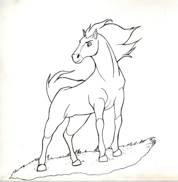 spirit stallion of the cimarron coloring pages # 6
