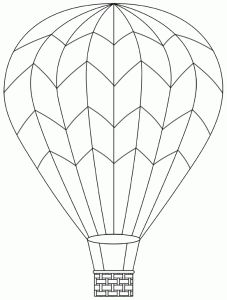 hot air balloon coloring pages # 44