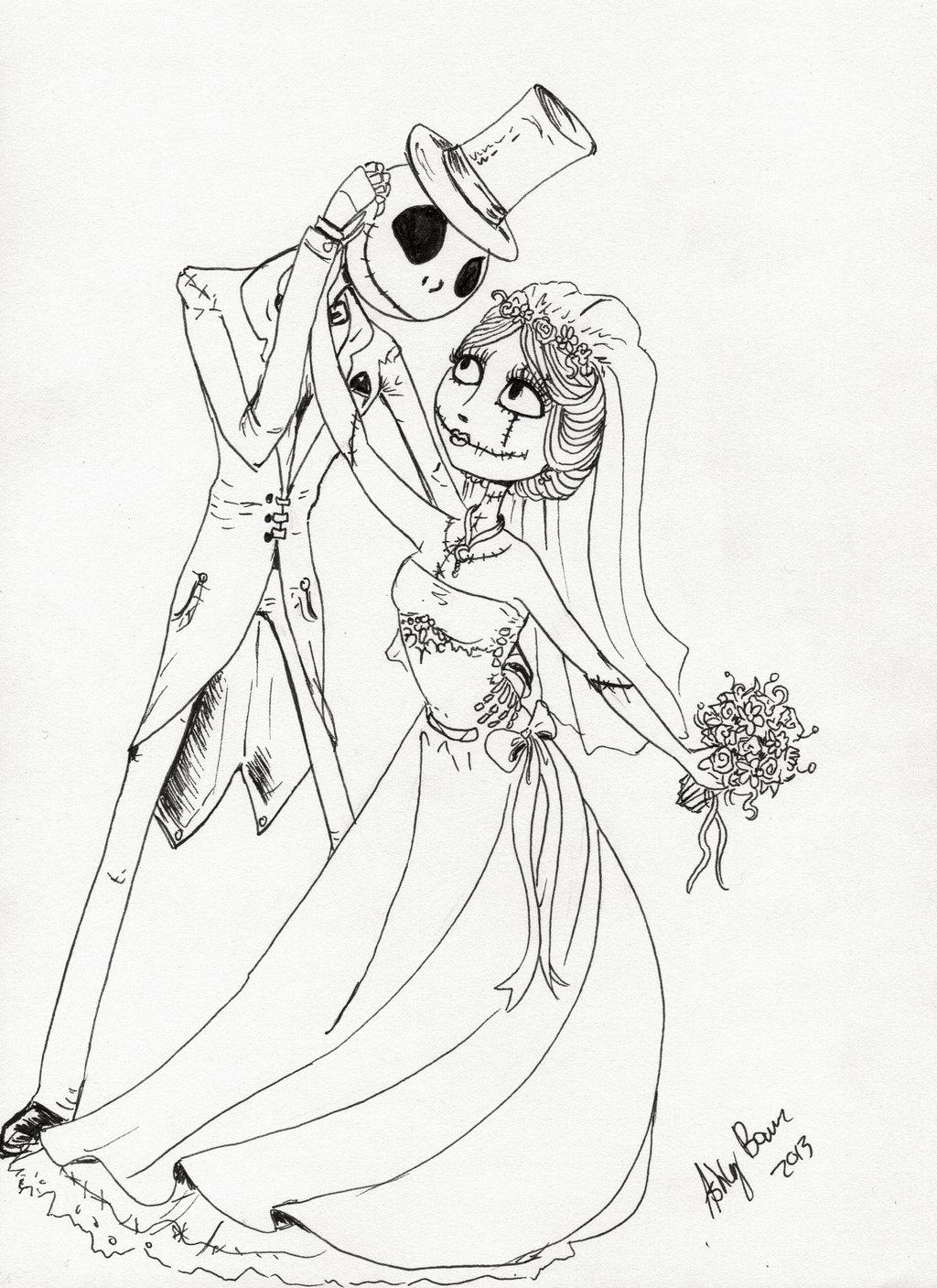 Jack And Sally Drawing At Getdrawings