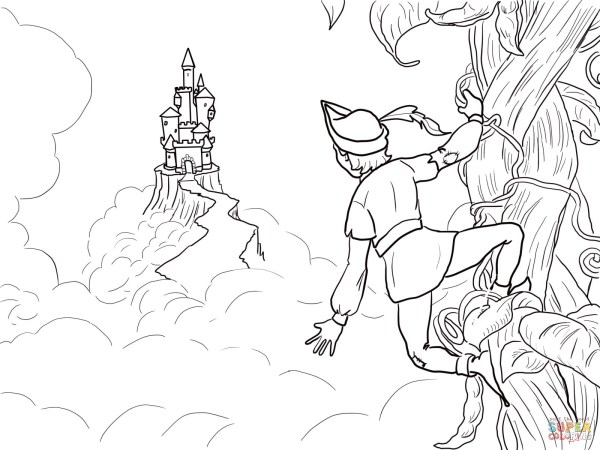 jack and the beanstalk coloring pages # 53
