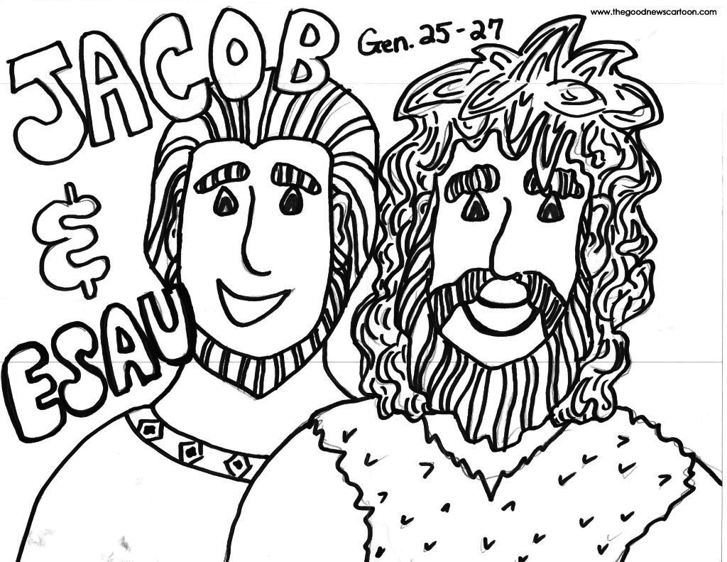 Jacob And Esau Coloring Page At Getdrawings