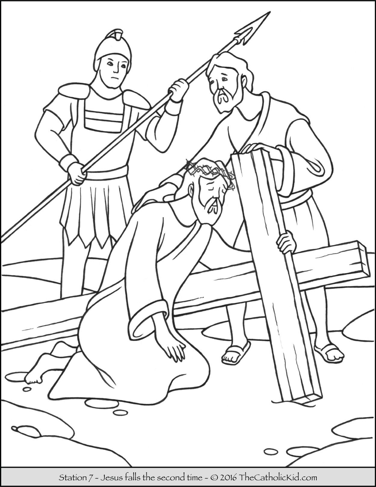 Jesusd On The Cross Coloring Page At Getdrawings