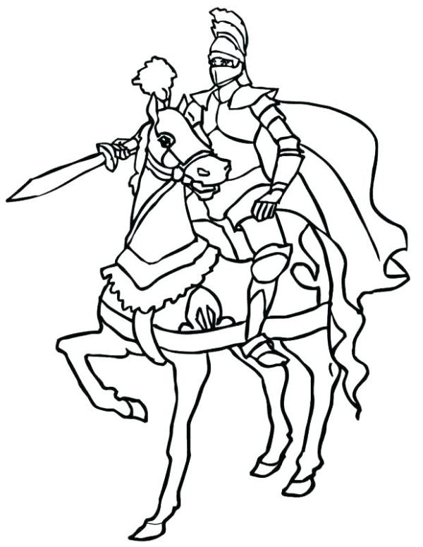 knights coloring pages # 44