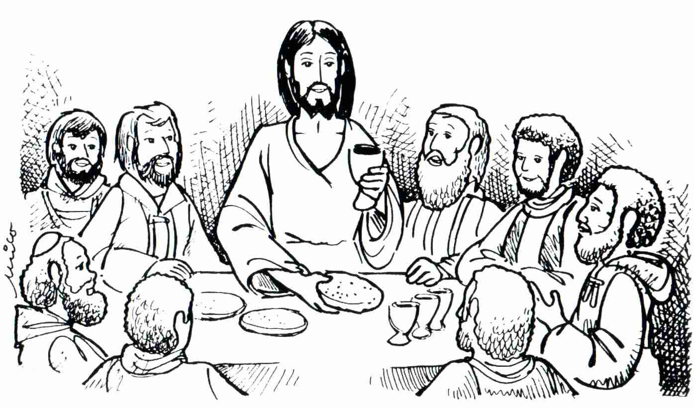 Last Supper Coloring Pages Printable At Getdrawings