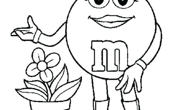 letter m coloring page # 42