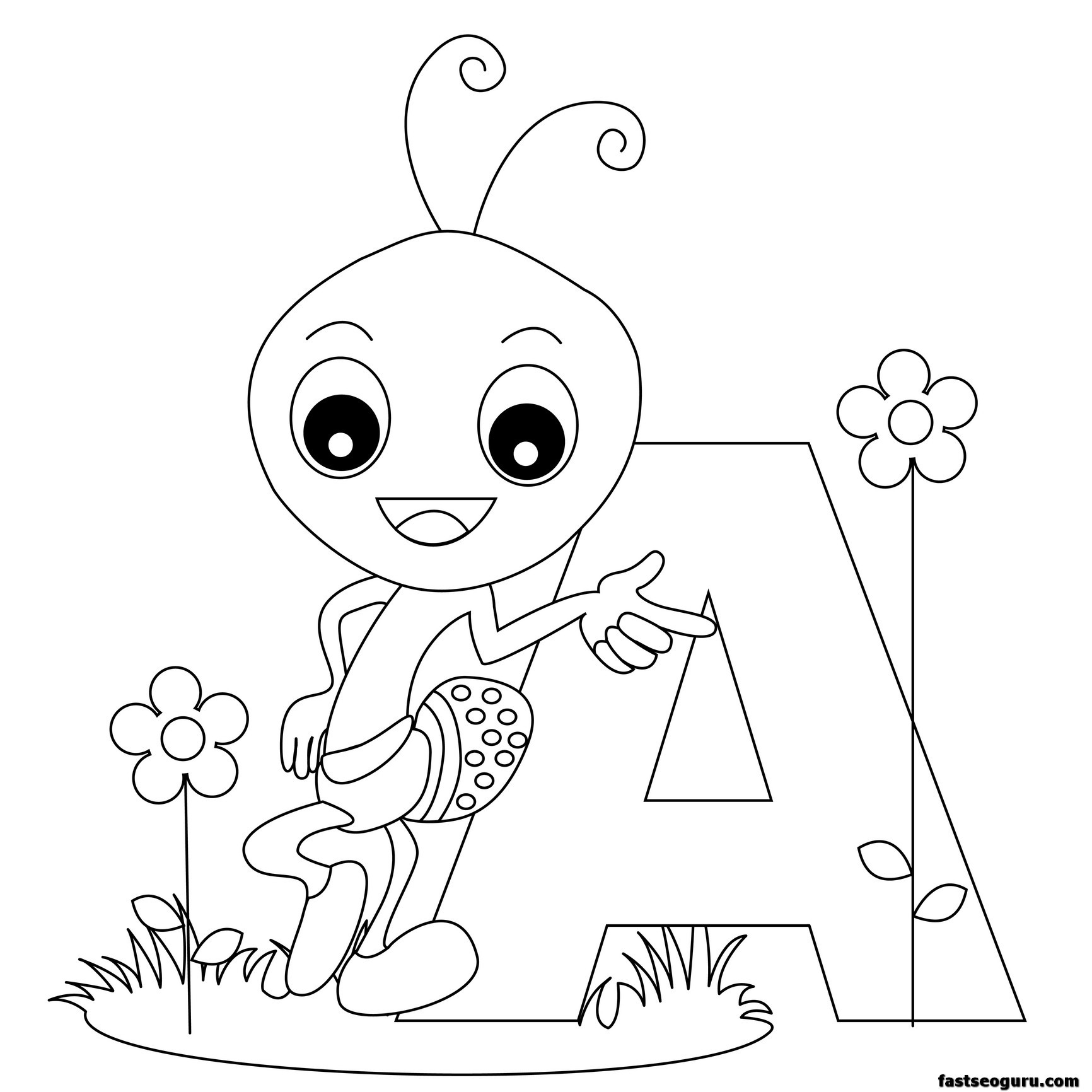 Letter Printable Coloring Pages At Getdrawings