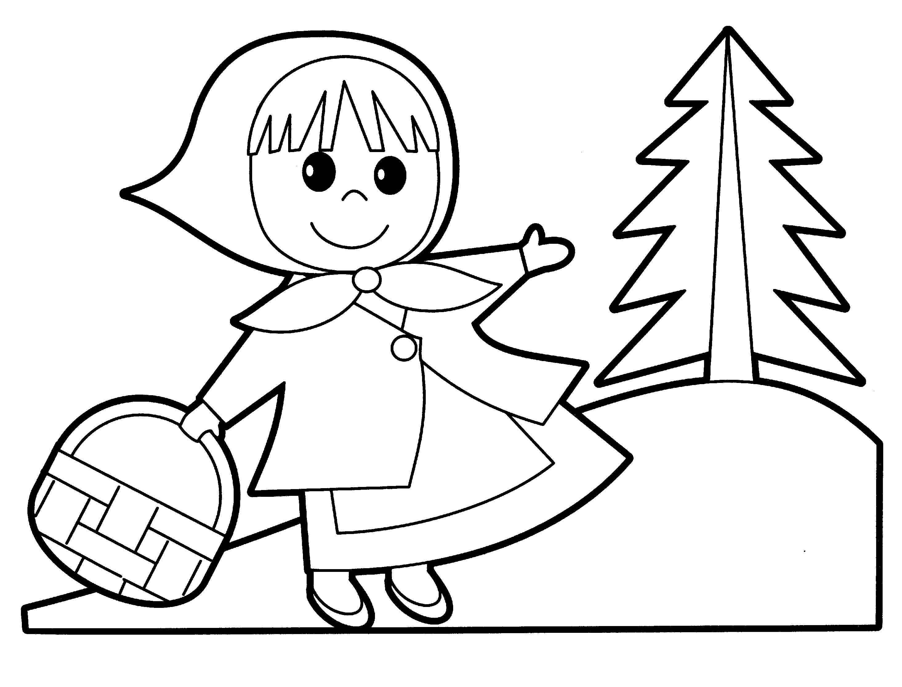 Little Red Riding Hood Coloring Pages At Getdrawings