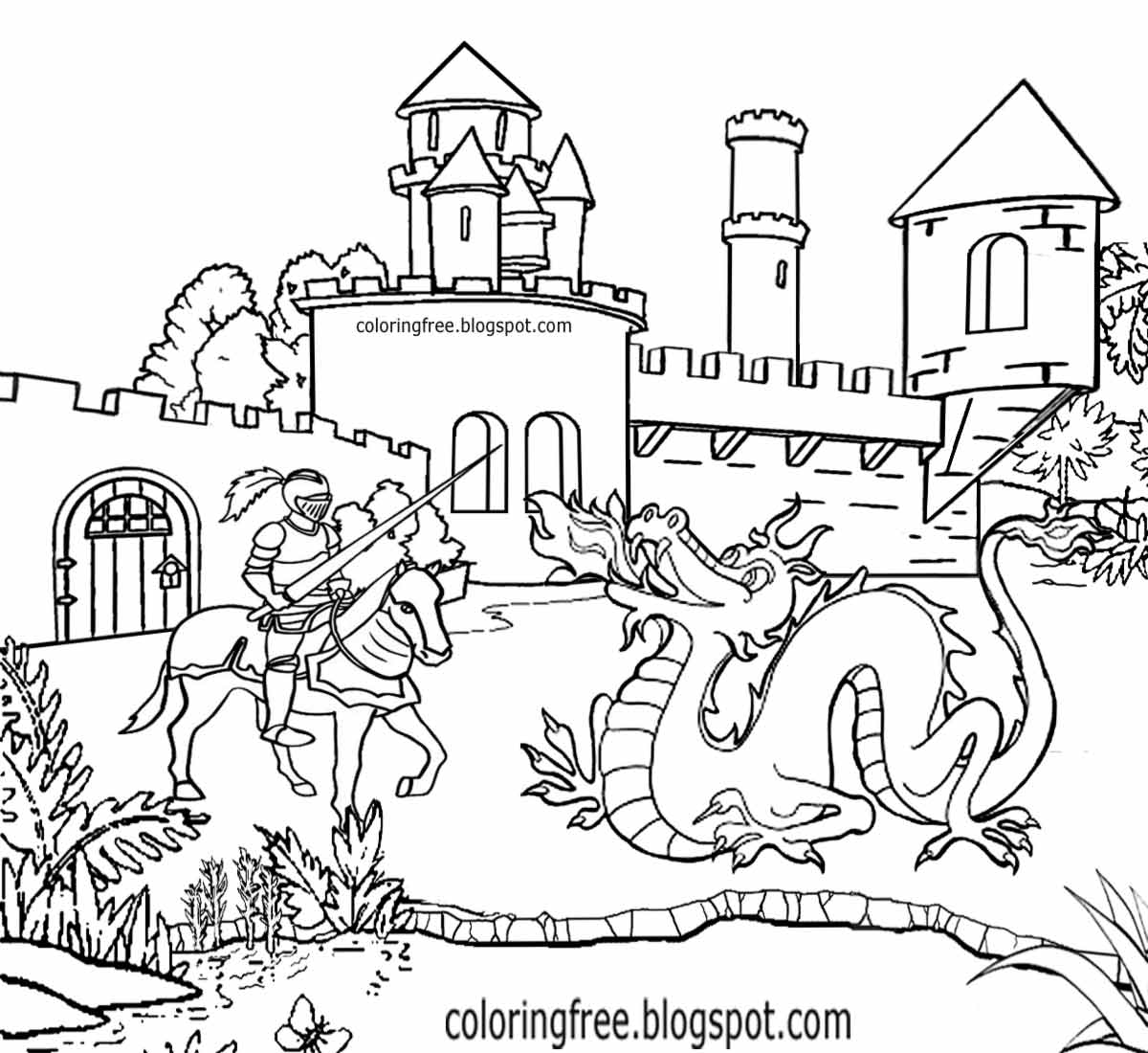 Magic Kingdom Castle Coloring Pages At Getdrawings