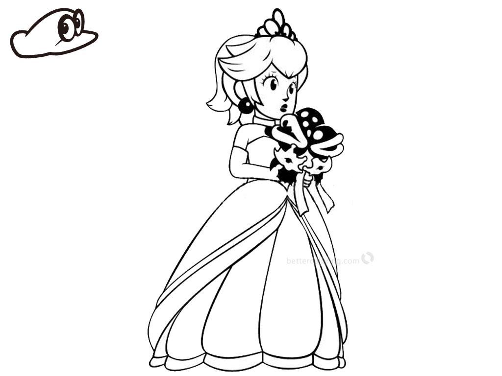 Kleurplaat Mario Odyssey Kidkleurplaat