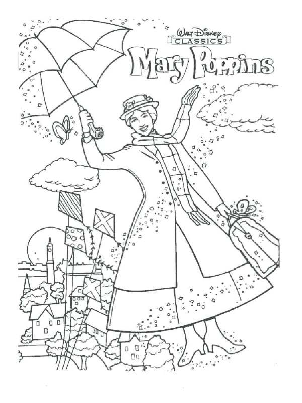 mary poppins coloring pages # 33