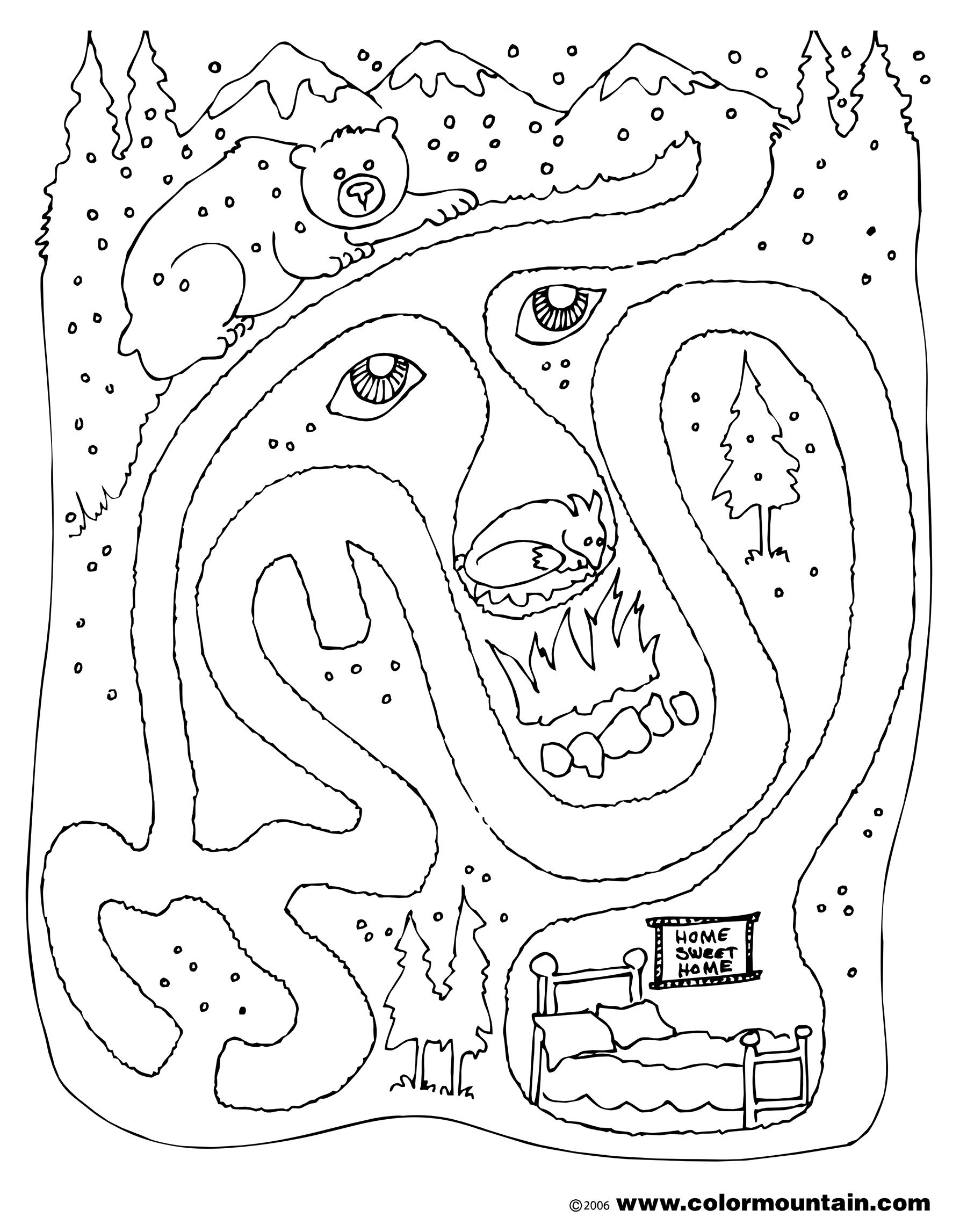 Maze Coloring Pages At Getdrawings