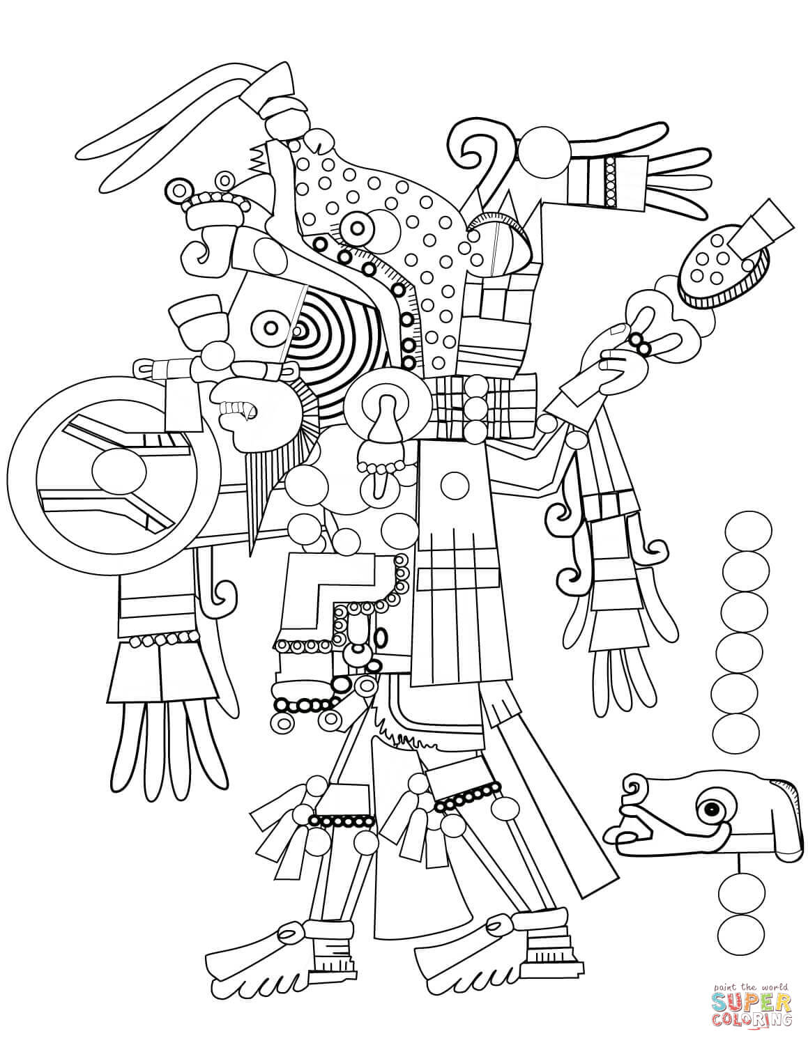 Mexican Culture Coloring Pages At Getdrawings