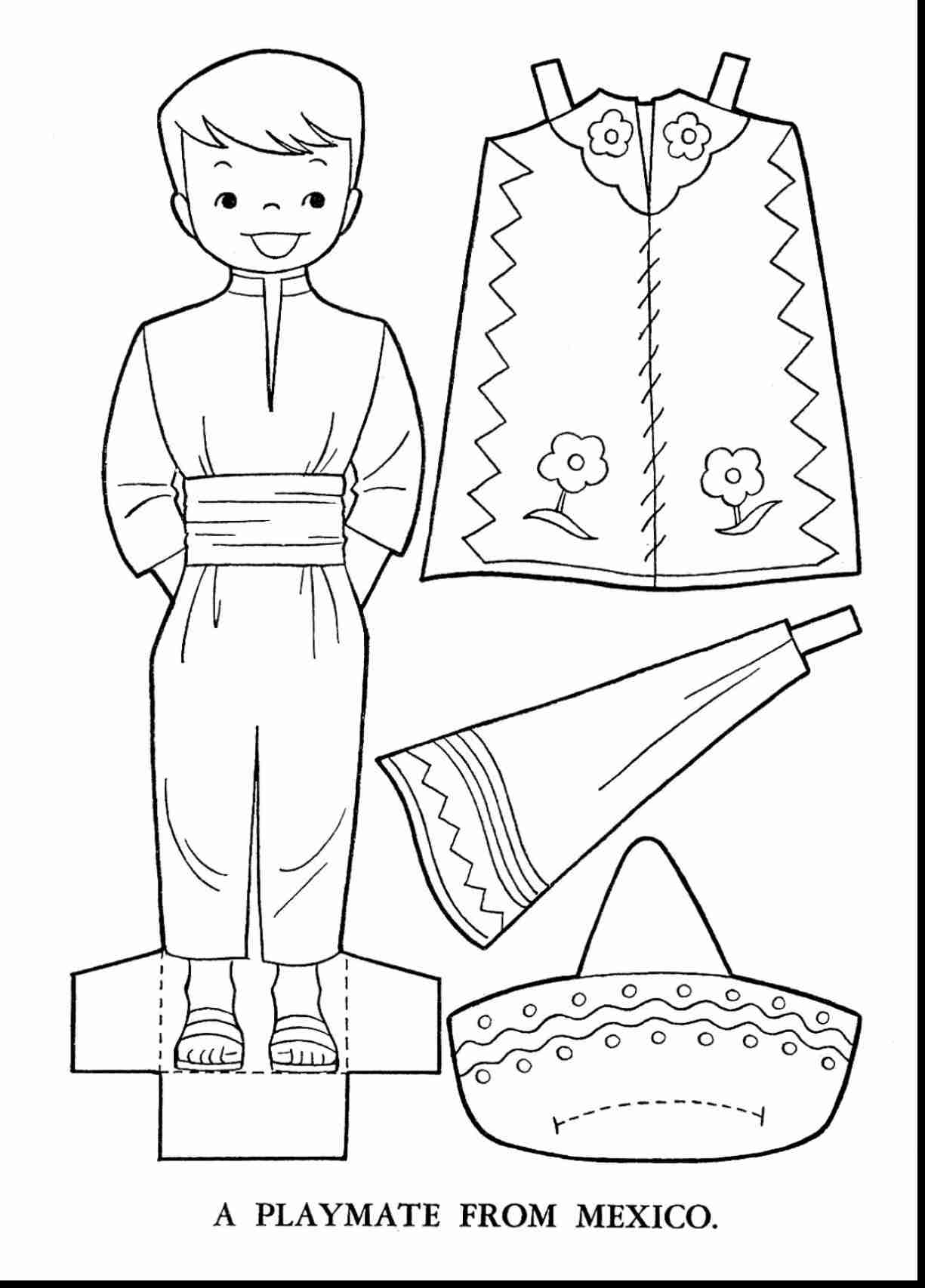 Mexico Coloring Pages Mexican Culture At Getdrawings