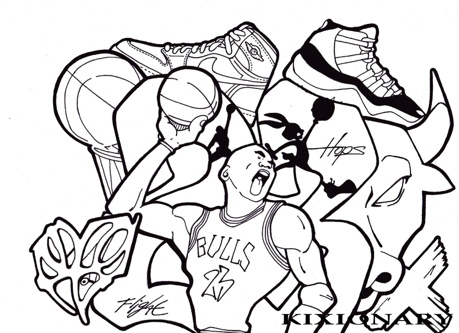 Michael Jordan Coloring Pages At Getdrawings