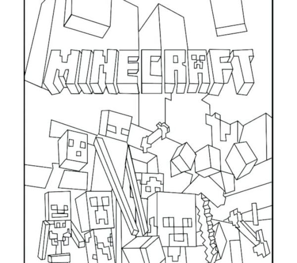 minecraft printables coloring pages # 61