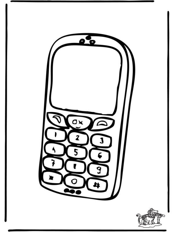 phone coloring pages # 22