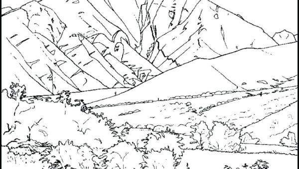 mountain coloring page # 18