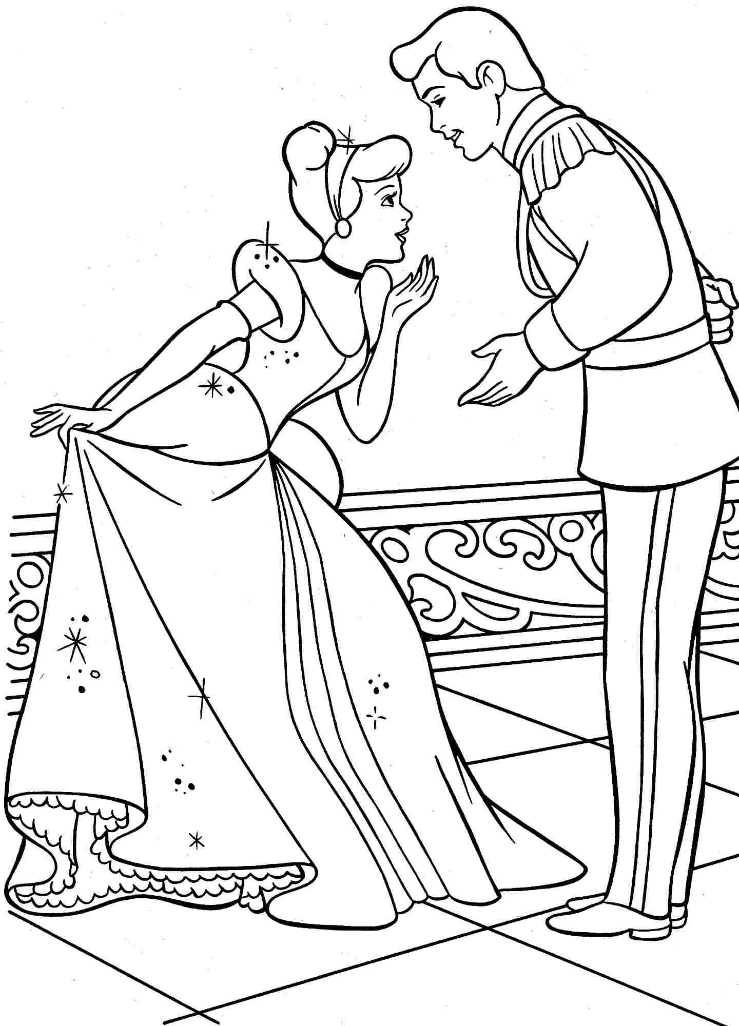 New Cinderella Coloring Pages At Getdrawings