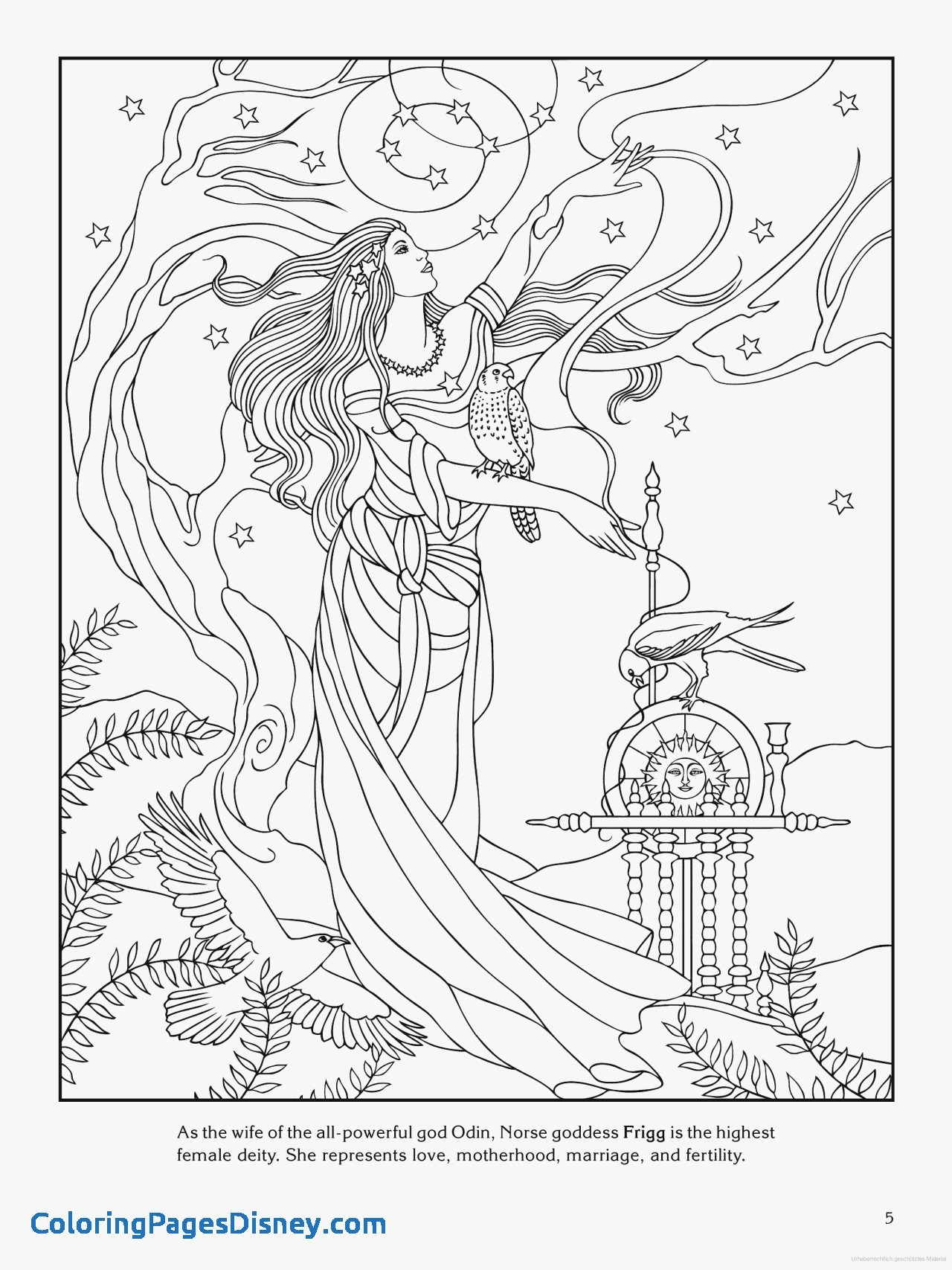 30 Norse Mythology Coloring Pages