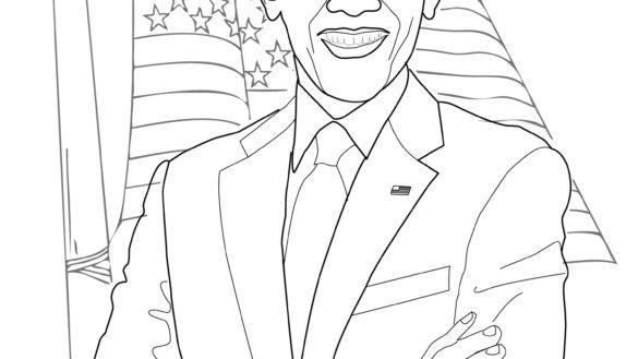 barack obama coloring page # 32