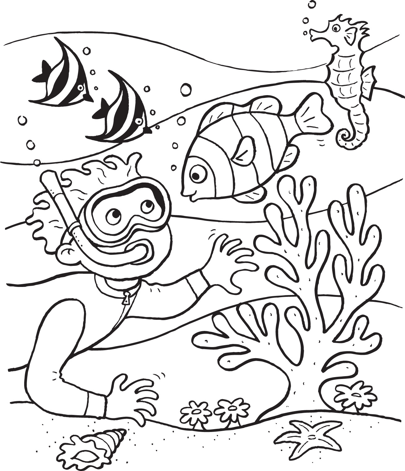 Ocean Coloring Pages For Kids At Getdrawings