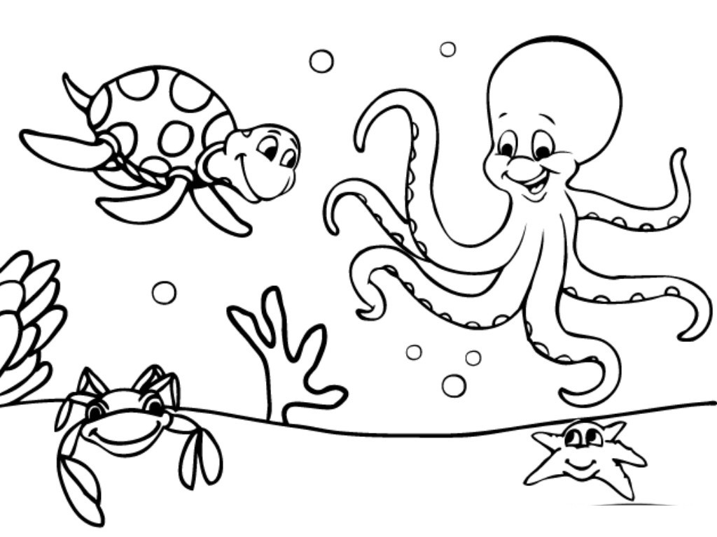 Ocean Fish Coloring Pages At Getdrawings