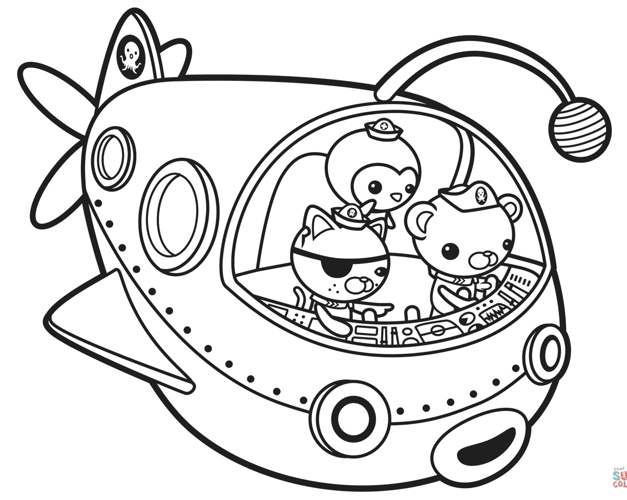 Octonauts Dashi Coloring Pages At Getdrawings