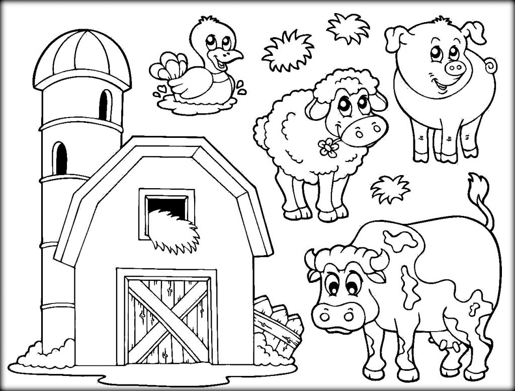 On The Farm Coloring Pages At Getdrawings