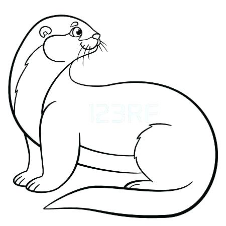 otter coloring page # 27