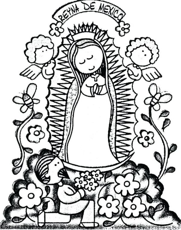 our lady of guadalupe coloring page # 69