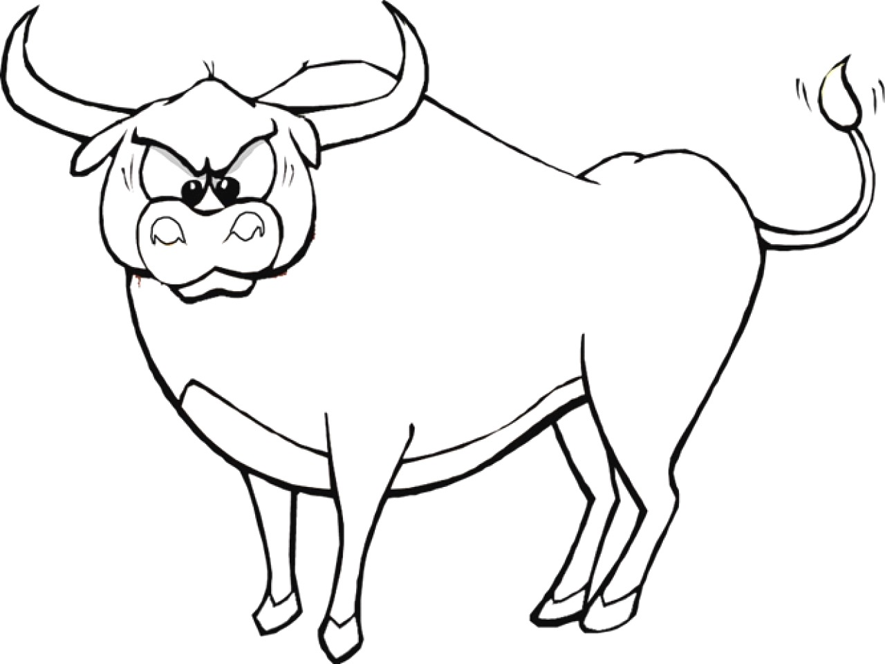 Ox Coloring Page At Getdrawings