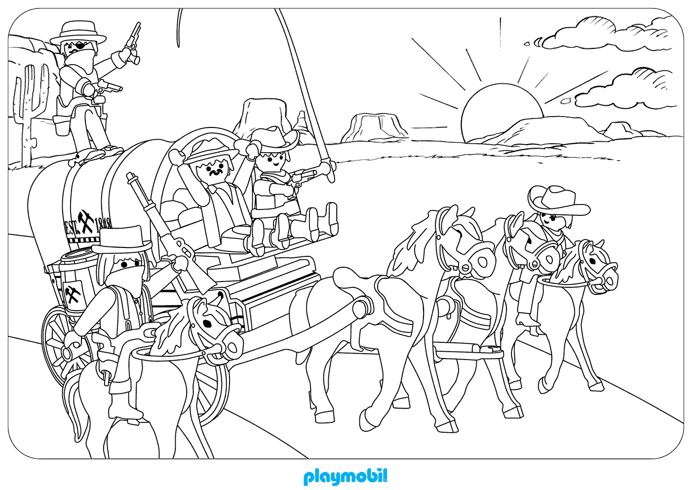 Playmobil Coloring Pages At Getdrawings