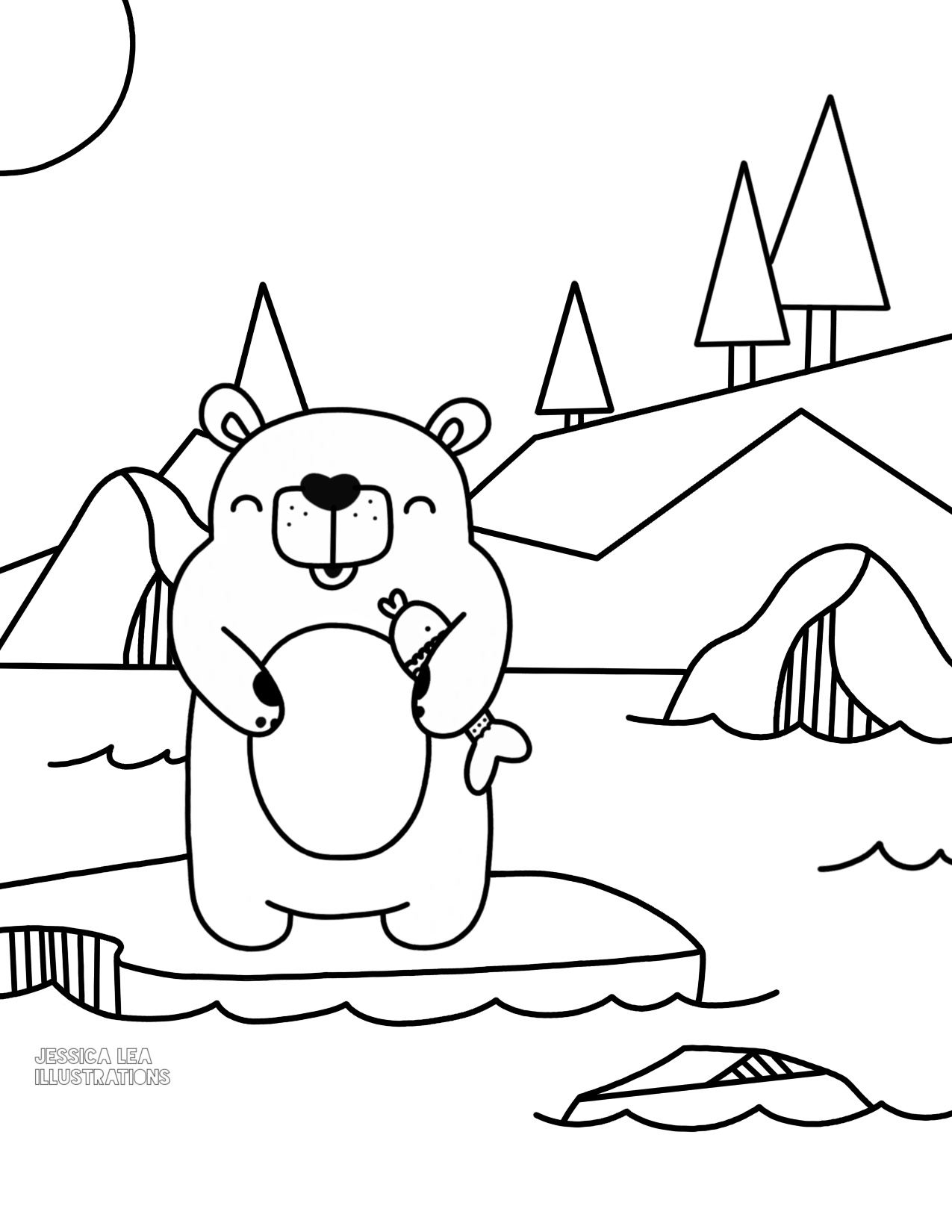 Polar Bear Printable Coloring Pages At Getdrawings