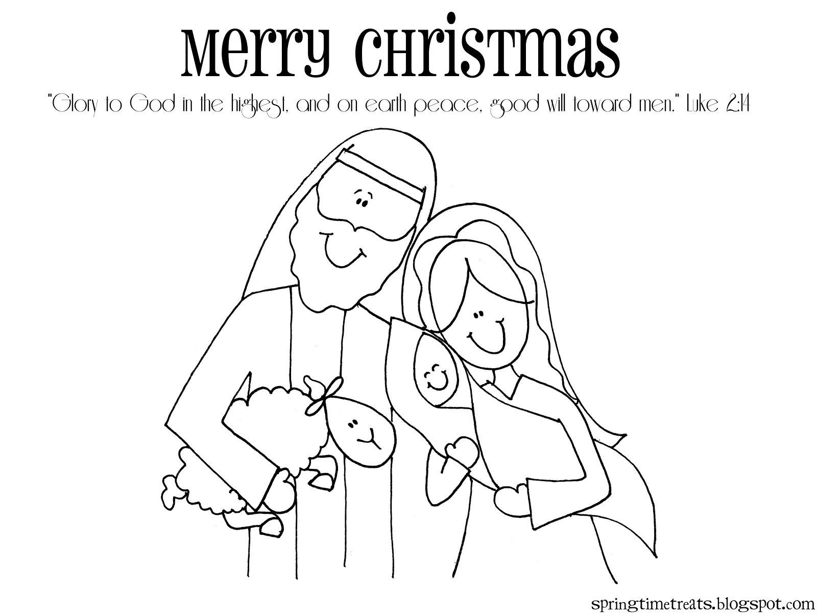 Printable Christmas Nativity Coloring Pages At Getdrawings