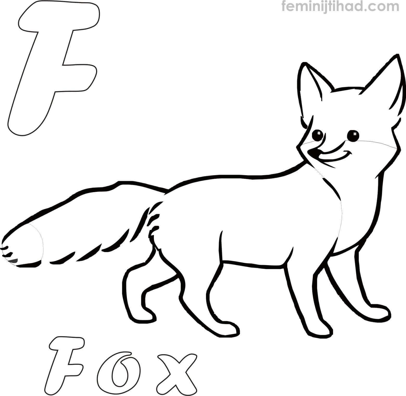 Printable Fox Coloring Pages At Getdrawings
