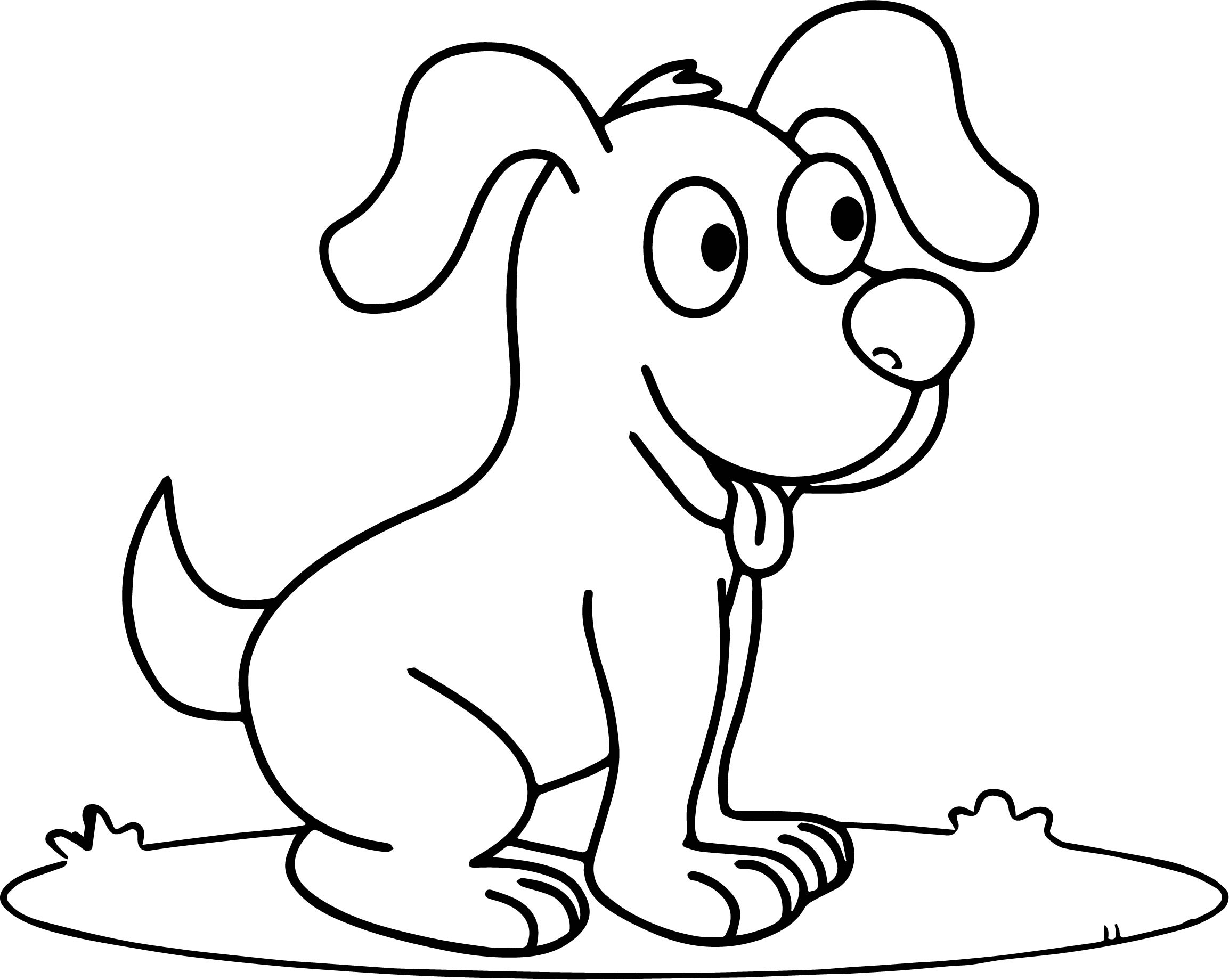 Puppy Cartoon Coloring Pages At Getdrawings