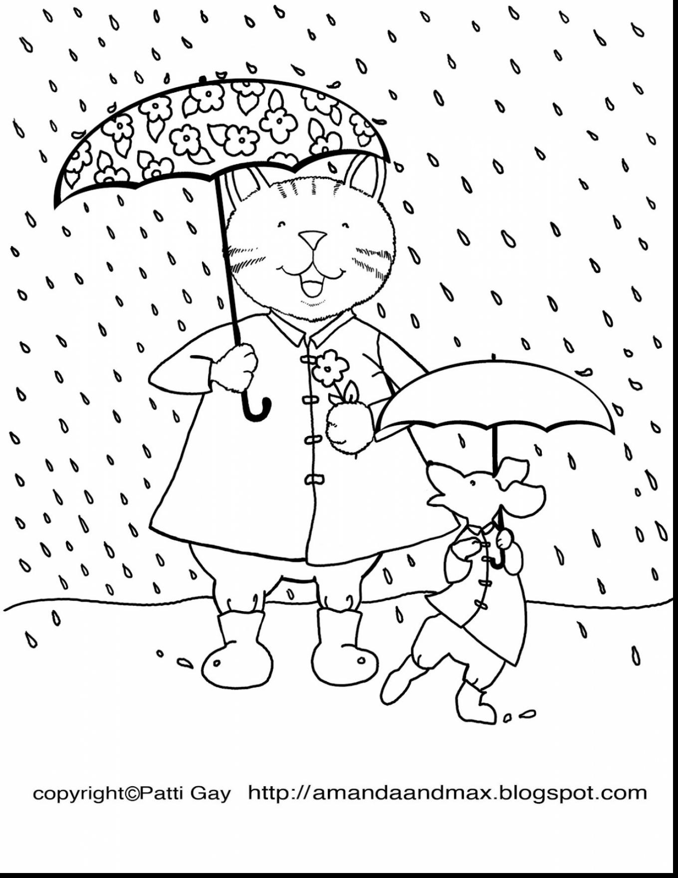 Rainy Weather Coloring Pages At Getdrawings