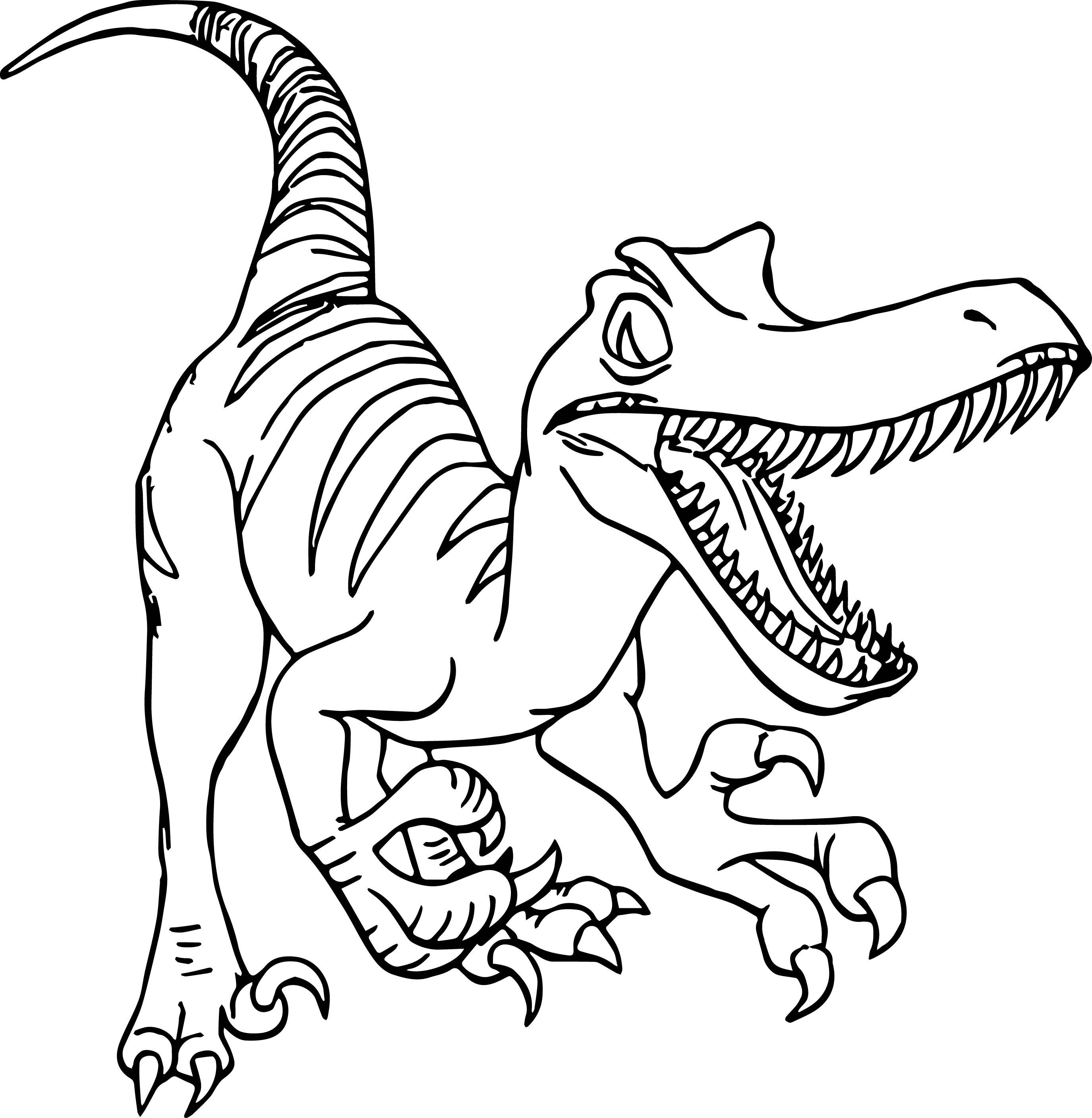 Raptor Dinosaur Coloring Pages At Getdrawings