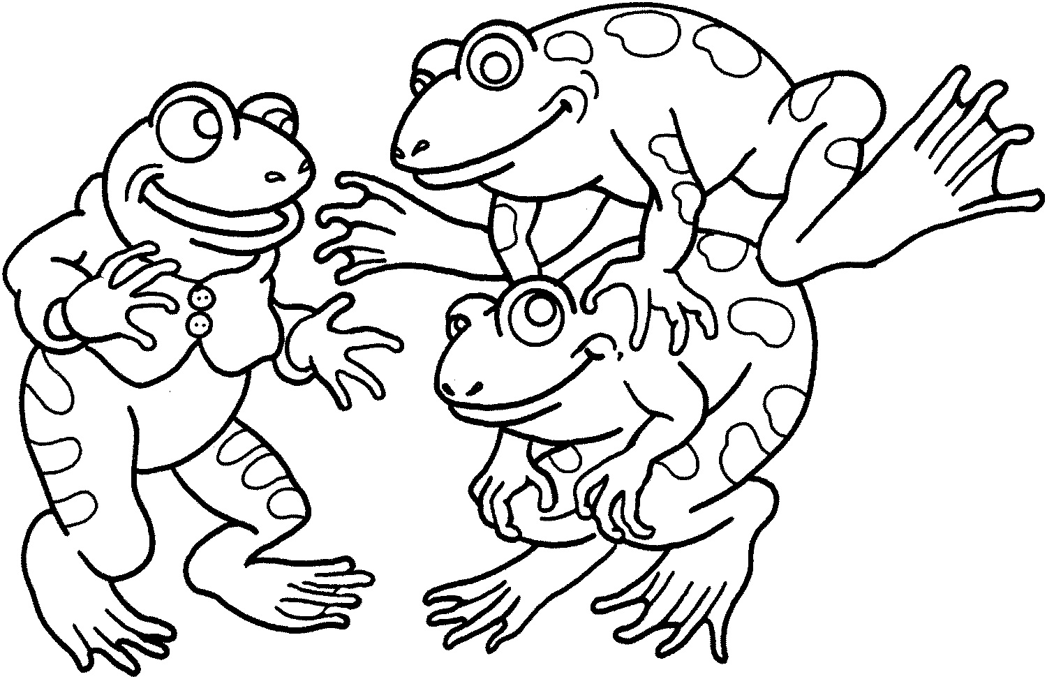 Realistic Frog Coloring Pages At Getdrawings