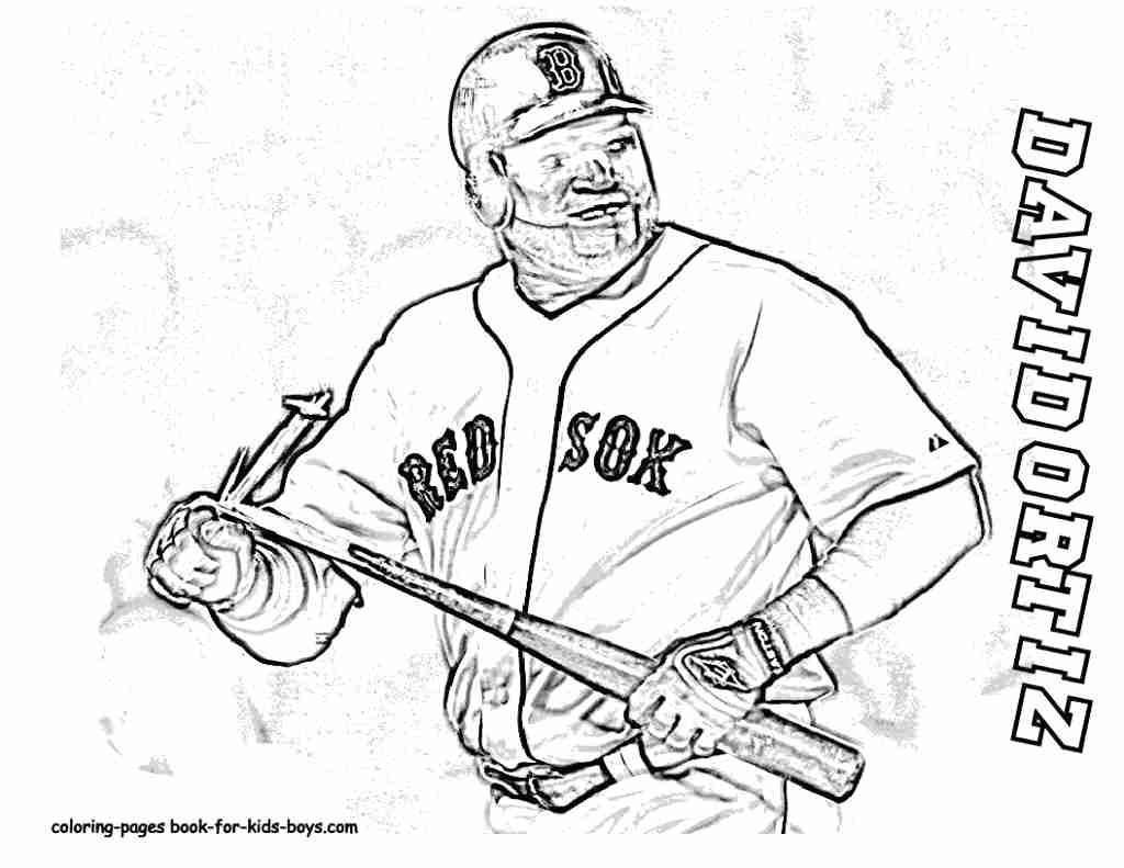 Red Sox Coloring Pages At Getdrawings