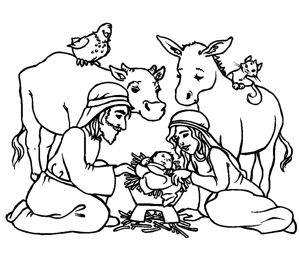 Religious Christmas Coloring Pages At Getdrawings
