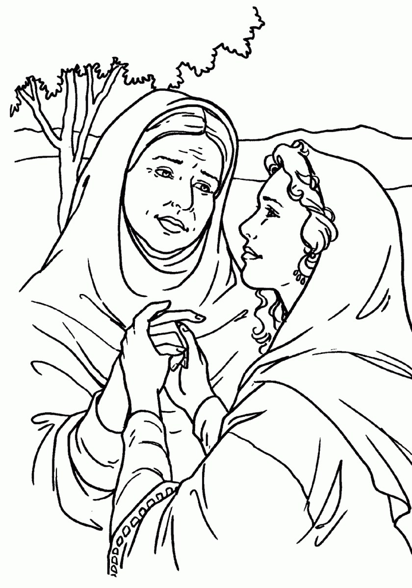 ruth and naomi coloring page at getdrawings  free download