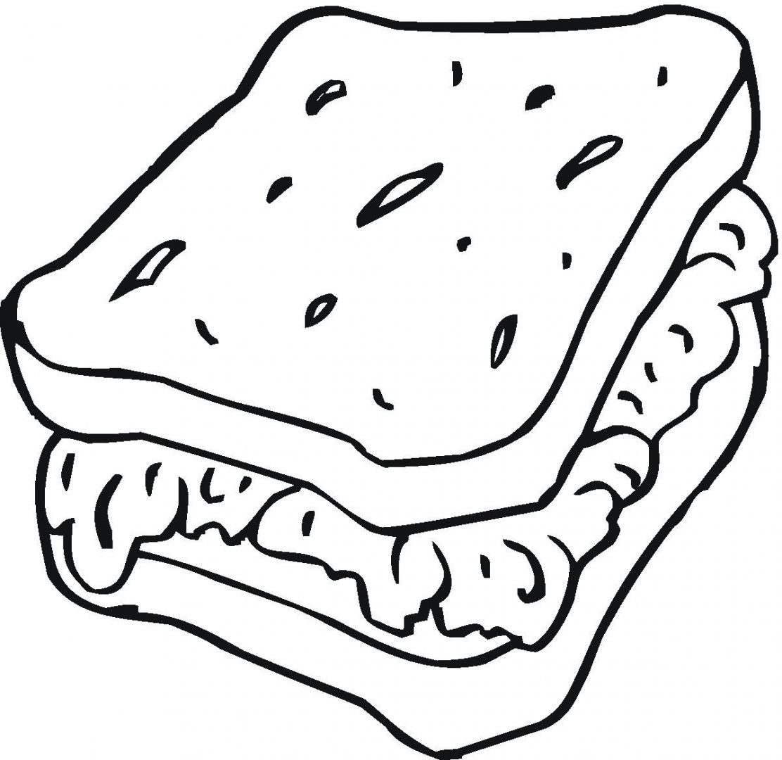 Sandwich Coloring Page At Getdrawings