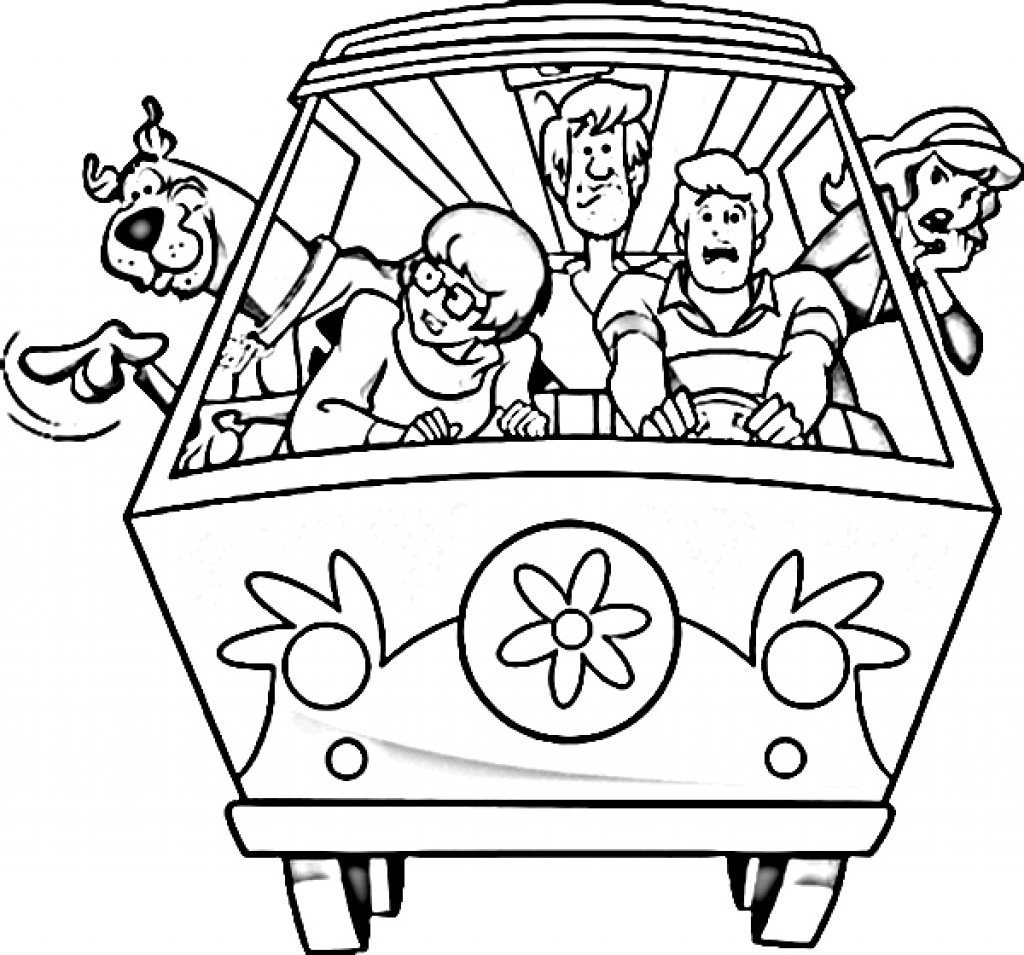 Scooby Doo Coloring Pages At Getdrawings