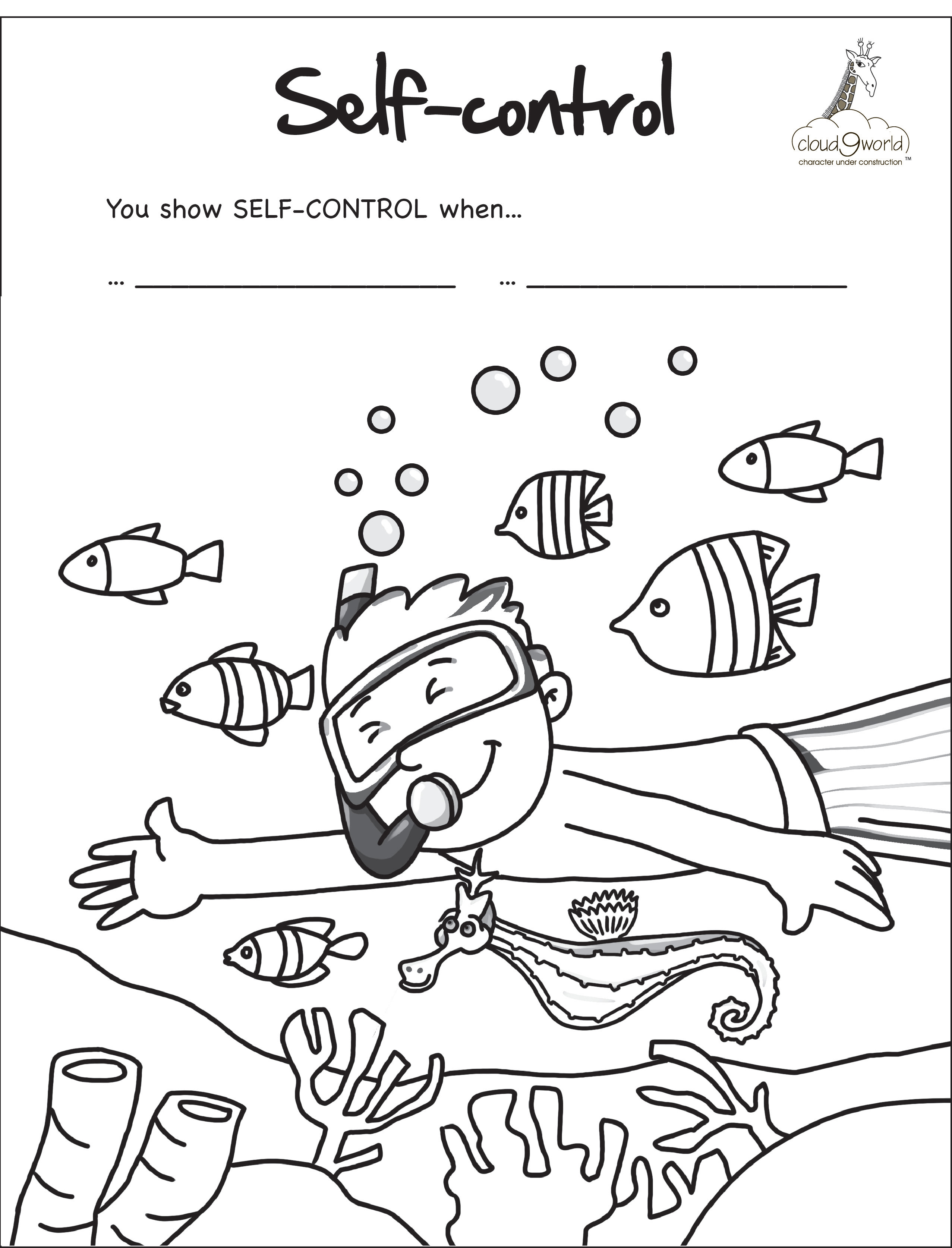 Self Coloring Pages At Getdrawings