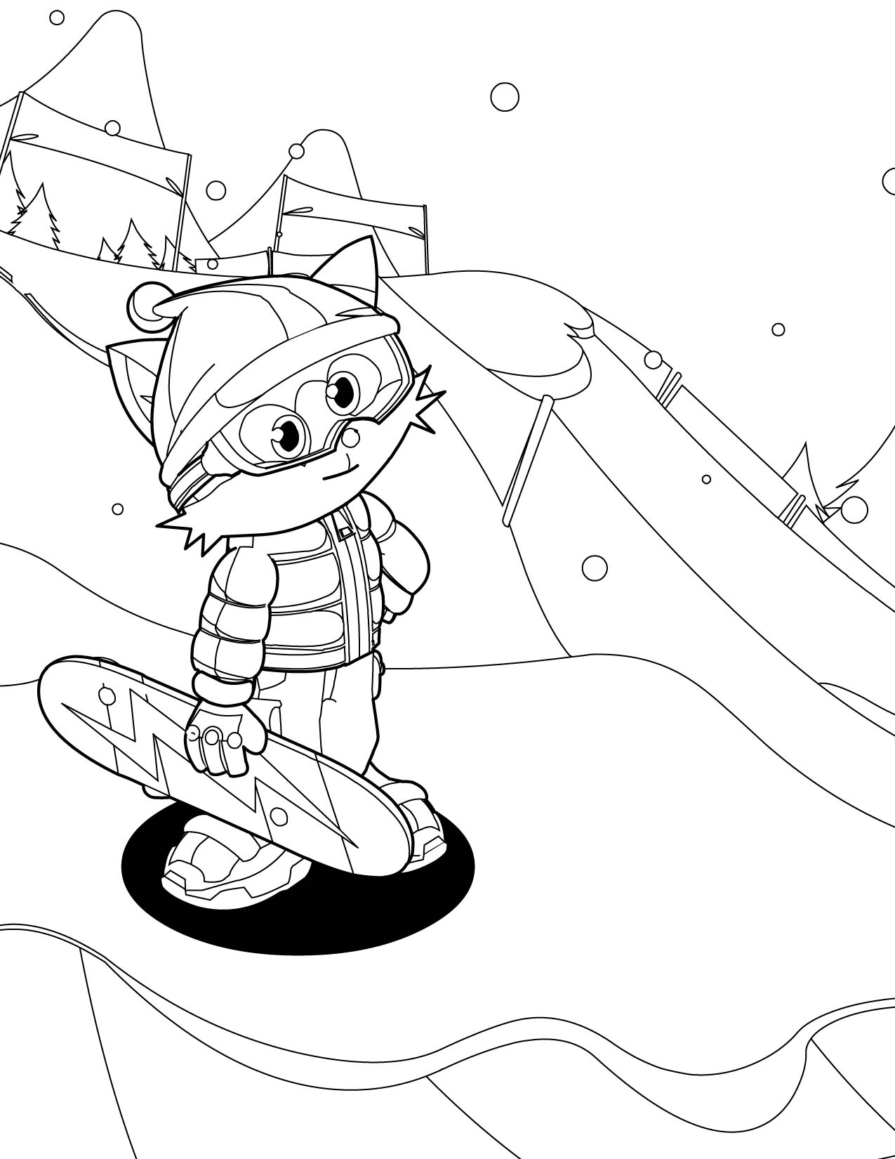 Snowboarding Coloring Pages At Getdrawings