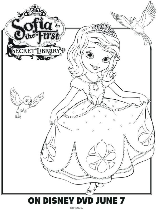 sofia the first printable coloring pages # 38